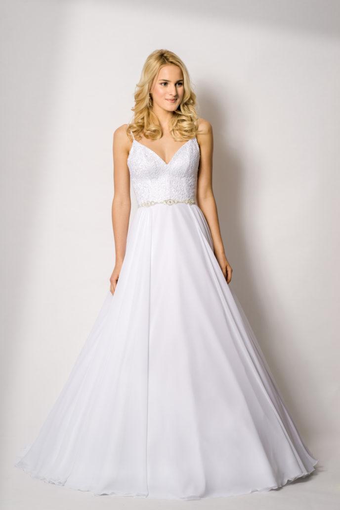 b10b330ed180 1702 Krásné svatební šaty na ramínka Olivia