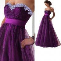 Dámské plesové šaty s krajkou