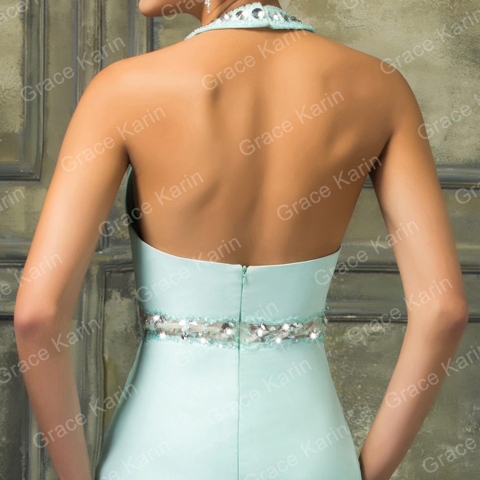 9c51863701b Sexy mentolové šaty s holými rameny a obojkem. Krásně pošité kameny.